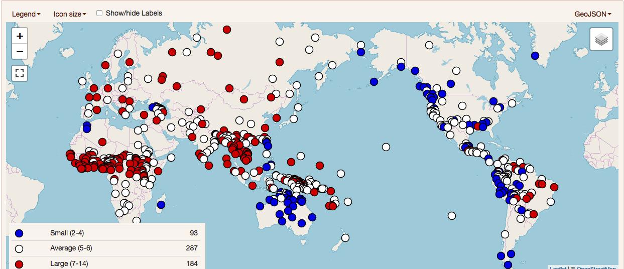 Sistemas vocálicos en el mundo